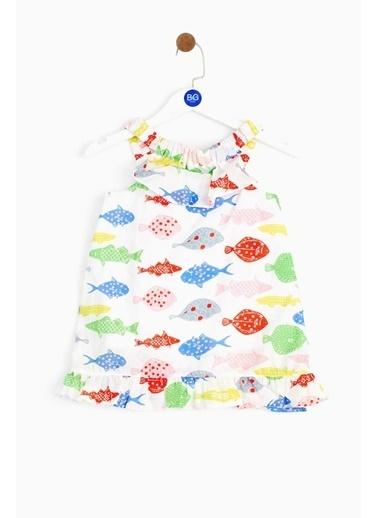 BG Baby Kız Bebek Desenli Elbise 19SS2BG2920 Renkli
